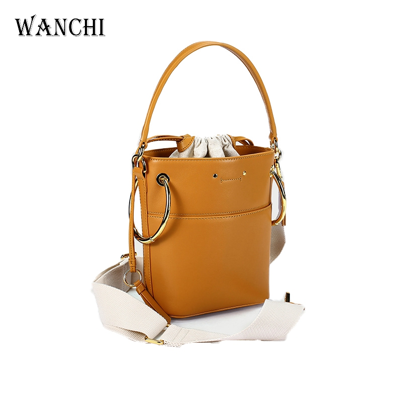 Genuine Leather Tote Handbag Cow Leather Bucket Crossbody Bags Ladies Purses and Handbags 2018 Designer Handbags High Quality