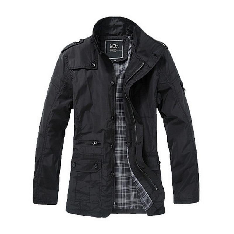 2020 thin Windbreaker Men Jackets And Coats Winter Jacket Man Coat Fat Plus size Men's Casual Jacket Male Stand collar outwear