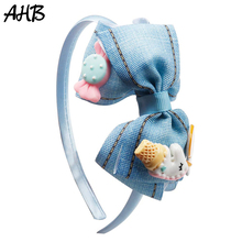 AHB 1 Pc Cute Unicorn Hairband for Girls Fashion Handmade Bowknot Cartoon Candy Headbands Hair Hoop Korean Kids Accessories