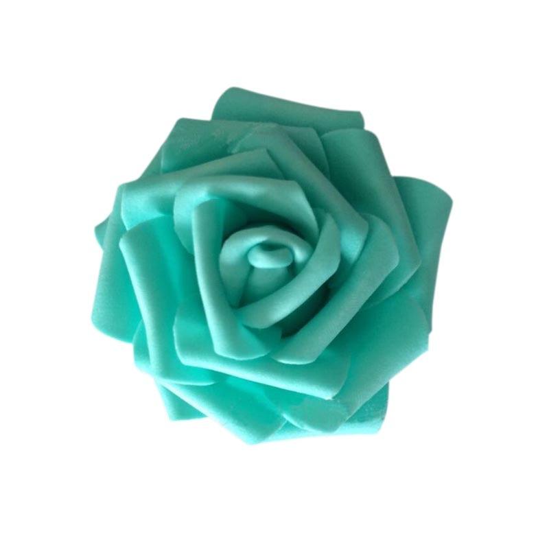 7 CM tiffany blue flower heads,artificial foam flowers,floral foam eva roses head for diy craft wedding accessories,kissing ball