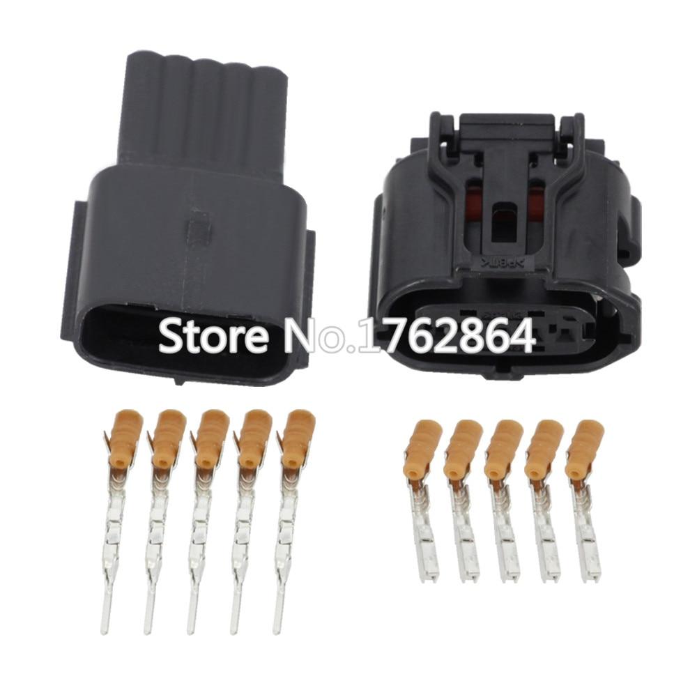 5 Pin Connector Air Pressure Plug Air Flowmeter Plugin with terminal DJ7052Y 0.6 11/21 5P Connectors     - title=