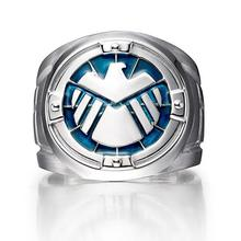 Agents of Shield S.H.I.E.L.D. Rings Sterling Silver 925 Mens Jewelry Mens Shield Hail Hydra Fashion Jewelry Big Ring
