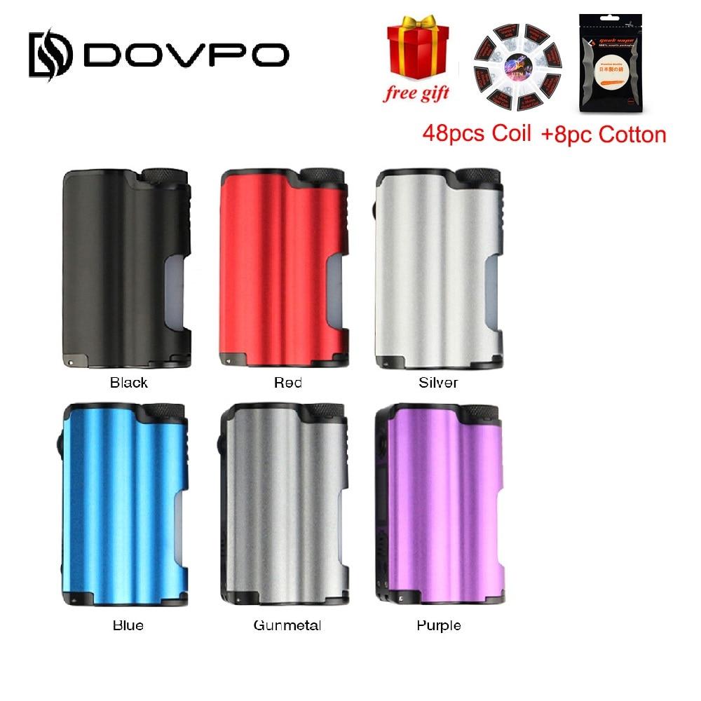 Original DOVPO Topside 90 W haut remplissage TC Squonk MOD avec 10 ml grande bouteille Squonk et 0.96 pouces OLED écran VS Luxotic BF boîte Mod