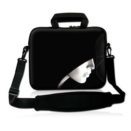 """Free Shipping,Hot 15""""15.6"""" Cute Girl Design Laptop Cover Shoulder Bag Sleeve Case Handle Pouch For Acer Lenovo"""