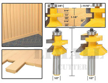 1/2-SHK Woodworking engraving machine tool wood cutter frame tenon knife plate floor milling cutter-2pcs/set