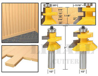 1 2 SHK Woodworking Engraving Machine Tool Wood Cutter Frame Tenon Knife Plate Floor Milling Cutter