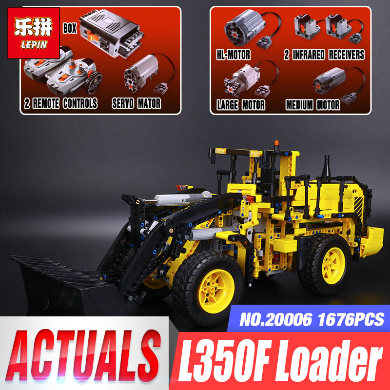 LEPIN 20006 1636pcs Technic Series Volvo L350F Wheel Loader Model Building Blocks Bricks Compatible with 42030 Children DIY Gift lepin 20006 technic series volvo l350f wheel loader model building kit blocks bricks compatible with toy 42030 educational gifts