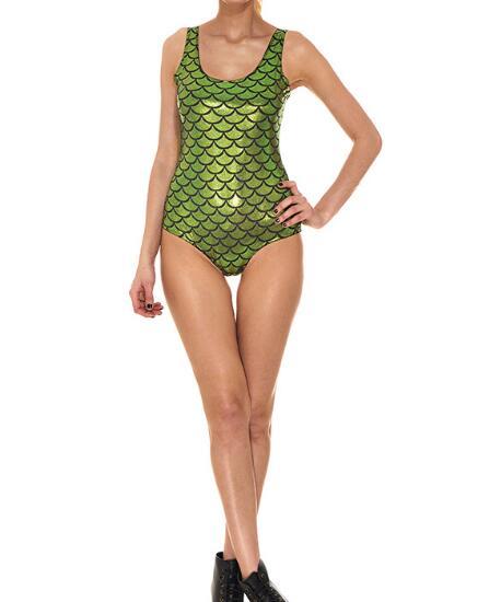 Women Push up Padded Bra Bandage One Piece Fish Scale Swimsuit Triangle Swimwear Bathing in Bodysuits from Women 39 s Clothing