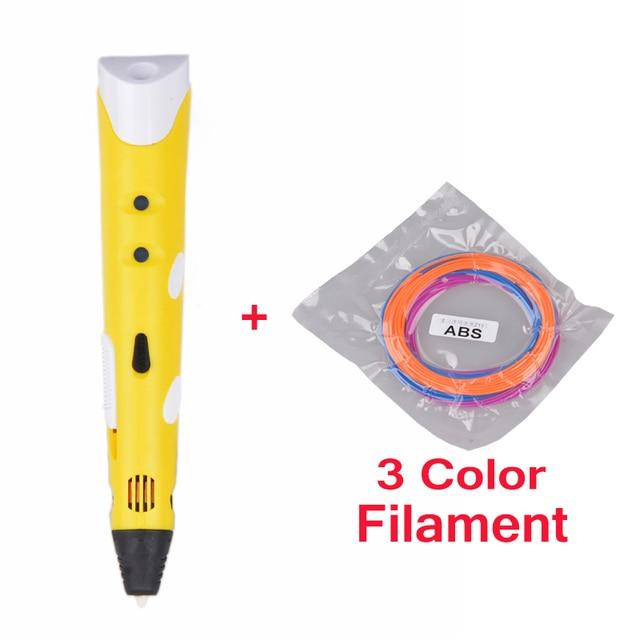Aitmexcn 3D Printer Pen with Filament 1.75mm ABS/PLA(5M*20=100m) Plastic Rubber Material for Kids DIY 3d Printing pen Filament