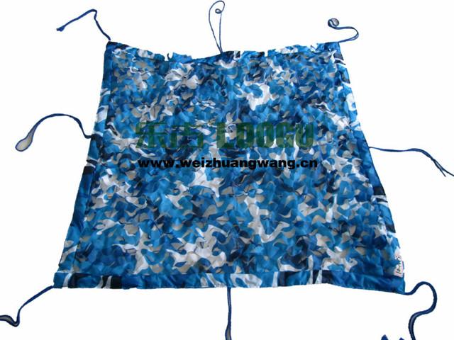 2.5 M * 5 M rede de camuflagem filet azul camo compensação para a construção do pavilhão do jardim gazebo ao ar livre dossel tenda telhado tenda carro