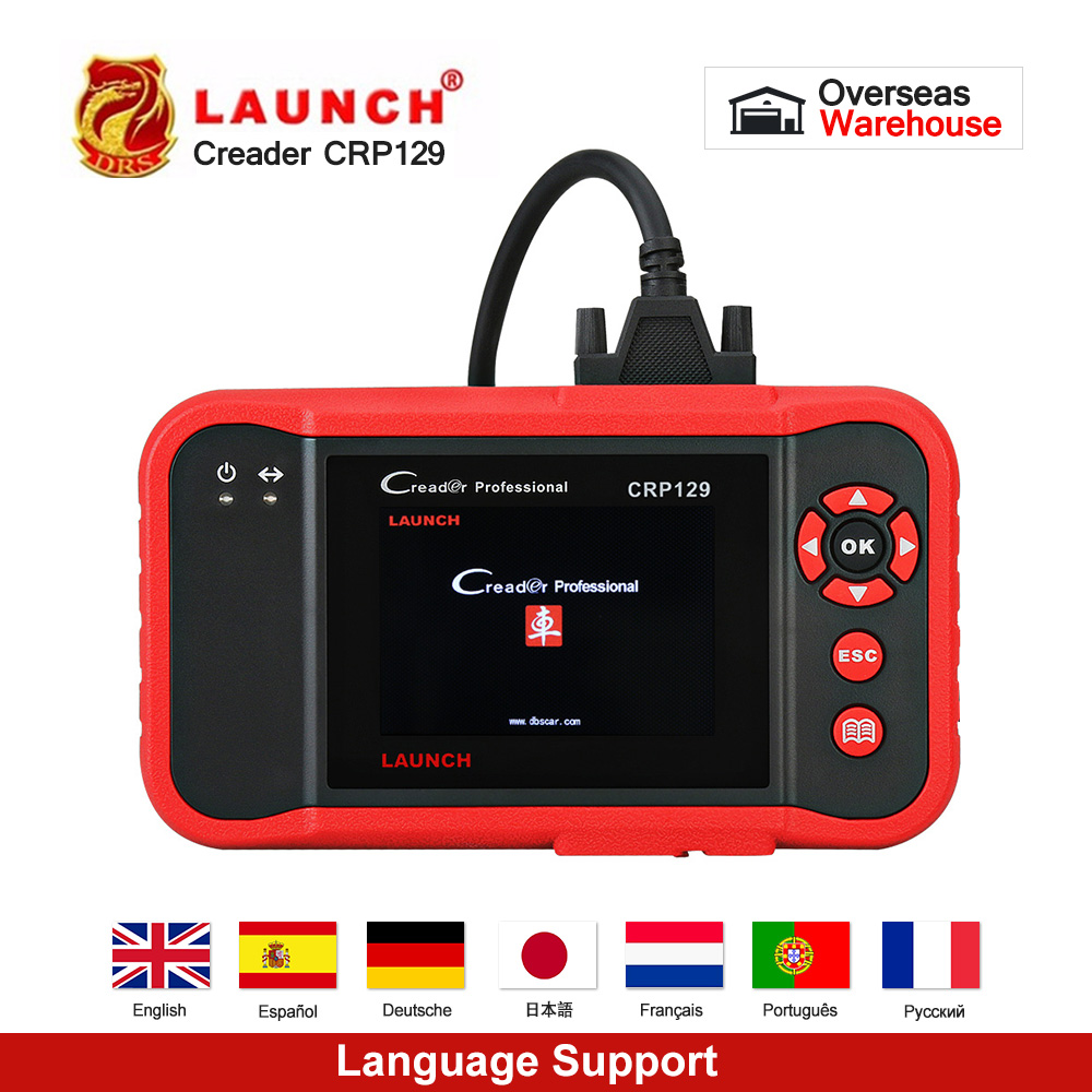Launch X431 Creader CRP129 Auto Code Reader OBD2 Scanner OBDII Automotive Diagnostic Tool Machine Creader VIII 8 ABS SRS Tools-in Code Readers & Scan Tools from Automobiles & Motorcycles