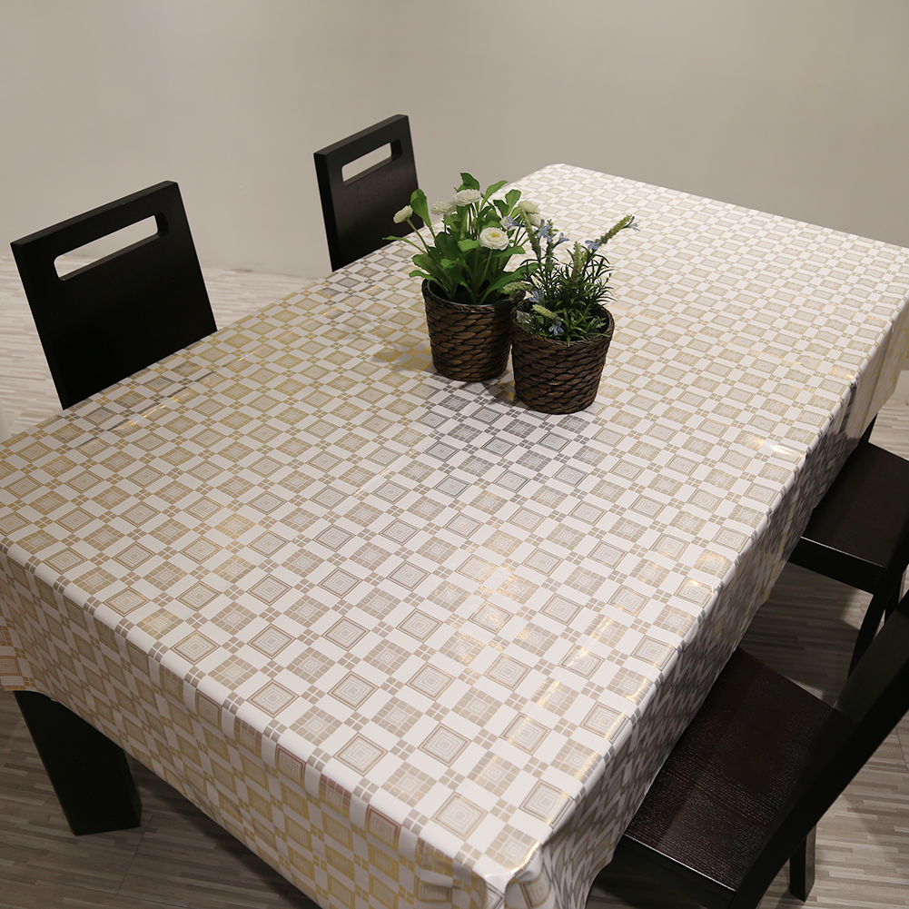 PVC European Style Waterproof Table Cloth Oil Proof Non Wash Rectangular Table Cover Party Tablecloth Kitchen Table Cover Protec