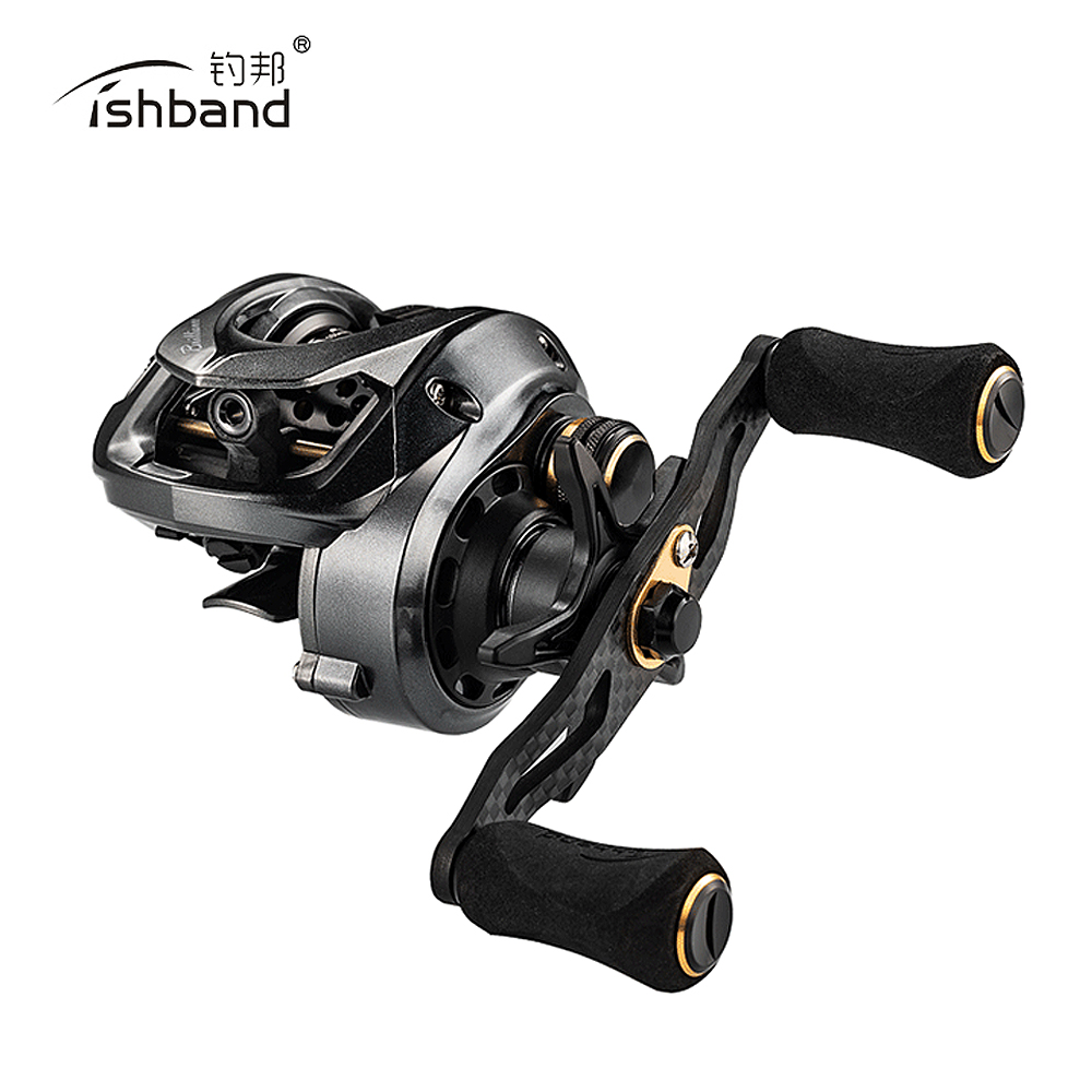2019 New Fishband Baitcasting Reel GH100 7.2:1 Small Bait Casting Fishing Reel For Trout Perch Tilapia Fishing(China)