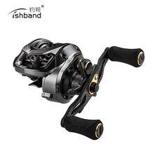 بكرة صيد أسماك جديدة 2019 طراز GH100 7.2: 1 بكرة صيد صغيرة لرمي أسماك السلمون المرقط لصيد أسماك البلطي