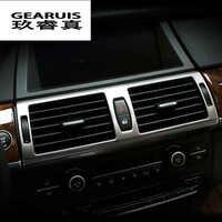 Consola Central Ar Condicionado Tomada decoração estilo do carro Adesivo da tampa da guarnição para BMW X5 E70 X6 E71 Interior Auto Acessórios