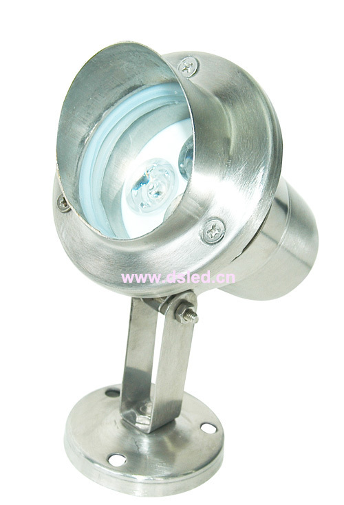 Free shipping by DHL !! high power Stainless steel 3W underwater LED light,LED pool light,DS-10-3-3W,12V DC,IP68 silver body stainless steel convex lens led underwater pool lights red green blue 3w ac85 265v led underwater light