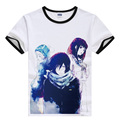 Anime Noragami T-Shirt Yato & Yukine Printed Short Sleeve Tee Shirt New 2017 Cute Cartoon Tshirts Free Shipping