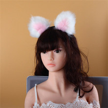 Cat Tail Plug With Car Ears | Color Pink & White