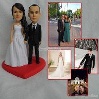OOAK Miniature art baby dolls Love Heart Wedding Favor Valentine Gift wedding party gifts for bride groom girlfriend boyfriend