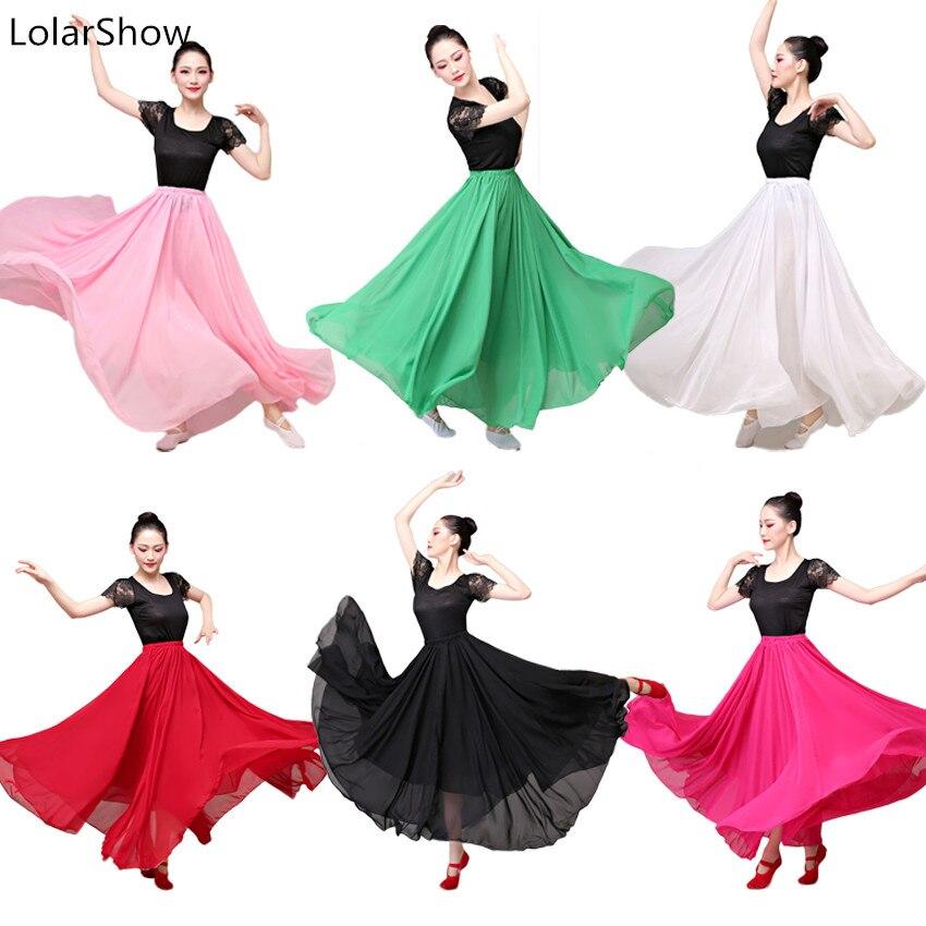 Girl Costume Flamenco Belly Women Dance Flamengo Skirt Chiffon Belly Dance Skirt