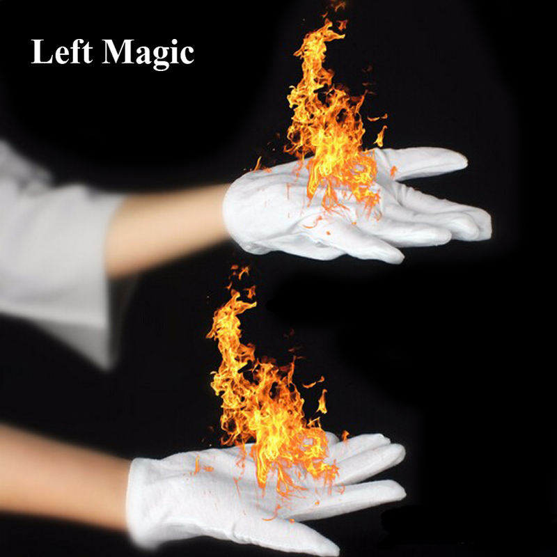 4 Pcs/Pair Magic Fire Gloves Magic Tricks Burning Gloves Fire Gloves Empty-Handed On Fire Gloves For Magicians Stage Magic