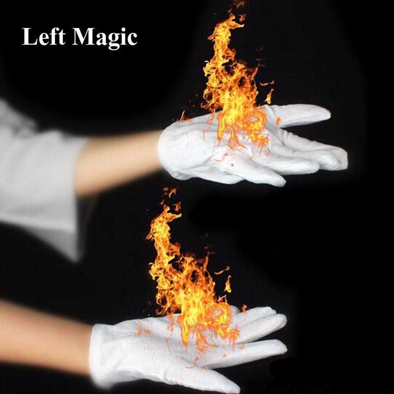 4 Pcs/Pair Magic Fire Gloves Magic Tricks Burning Gloves Fire Gloves Empty-Handed On Fire Gloves For Magicians Stage Magic