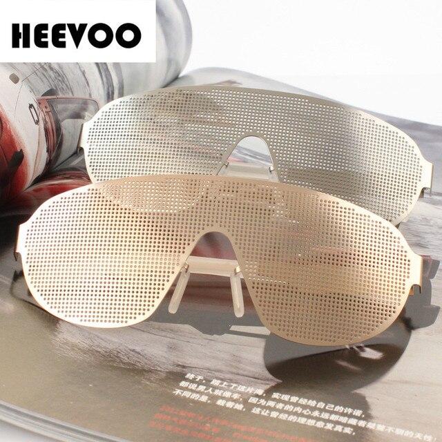 HEEVOO 2016 nueva moda Unisex Vision Care Pin agujero Anteojos Pinhole Gafas Ejercicio Del Ojo Mejorar metal