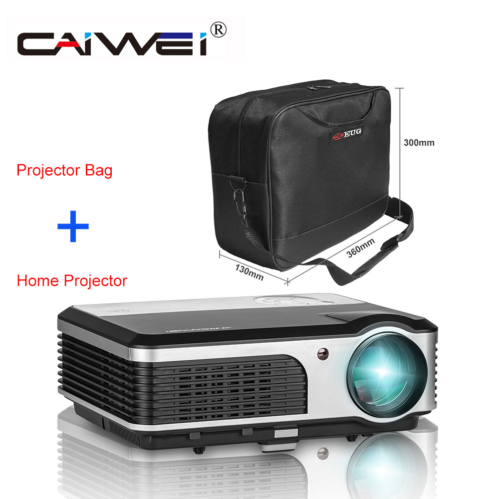 CAIWEI font b Portable b font LCD Projector with Bag Home Cinema Video 1080P Theater Movie
