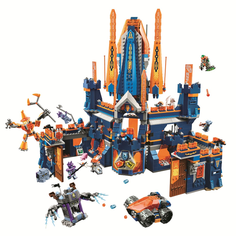 BELA Nexo Knights Knighton Castle Building Blocks Sets Kits Bricks Classic Model Kids Toys Marvel Compatible Legoings Nexus недорого