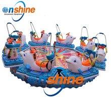 Мини Летающая карусель поворотный стол для детей аттракционы парк развлечений Дельфин Lucky поворотный стол