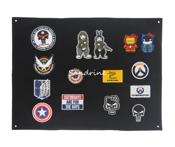 Pantalla de almacenamiento, cartel, armadura, brazalete, tela de acabado, pantalla de pared, parches tácticos de moral, parches bordados del ejército