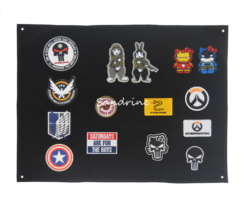 Storage display poster armor armband finishing cloth wall display Tactical Morale Patches Army Embroidery Patches