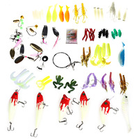 2016 100Pcs Kinds Of Colormix Fishing Lures Minnow Hooks Bass Artificial Baits Tackle Packs