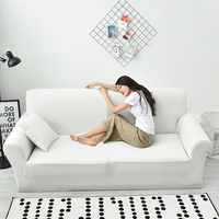 Universal Stretch White Waterproof Couch/Corner Sofa Covers Anti dirty Solid Color Furniture Cover Single Double Three Four Seat