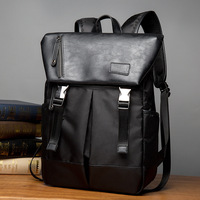 New Fashion PU Mixed Canvas Backpack Bag Student Bag Leisure Travel Bag Fashionable Backpack