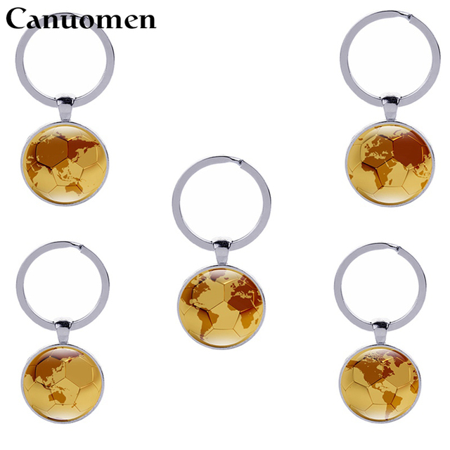 Canuomen football keychain with world map car key holder world cup canuomen football keychain with world map car key holder world cup keyring trinket soccer souvenir men gumiabroncs Gallery