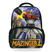 Cartoon Mazinger Z Printing Backpack New Travel Knapsack boys Mechanical Warrior School Bag Rucksack Mochilas