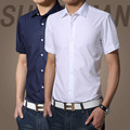 Men's summer pure Mens Fashion Business Shirt Mens Shirt