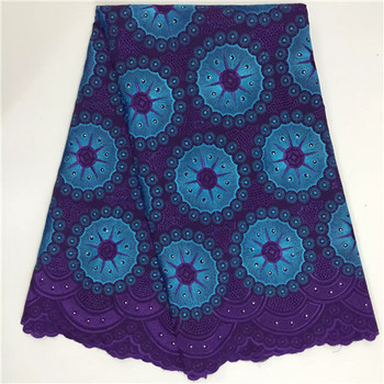 African Dry Lace Fabrics High Quality For Women Cotton Dry Lace Fabric Swiss Voile With Stone Swiss Voile Lace In Switzerland