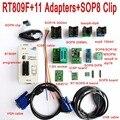 Originele RT809F programmeur + 11 Adapters + SOP8 clip klem + 1.8 v/TSSOP8 SOCKET VGA LCD programmeur ICSP board 24 25 93 serise IC