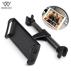 XMXCAKJ mocowanie telefonu w samochodzie uchwyt 360 stopni regulowany klips uchwyt telefonu komórkowego Tablet zagłówek uchwyt na 5 do 10 cali uniwersalny
