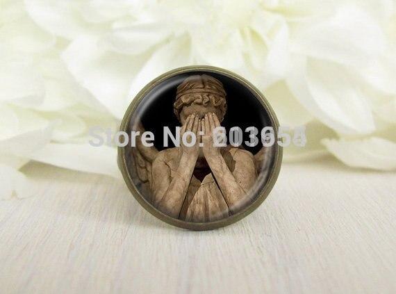 UK movie 1pcs/lot dont blink weeping angel doctor who gallifreyan Adjustable ring mens womens fashion vintage xmas gift vintage