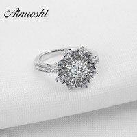 Hot Sale Fashion Luxury Women Engagement Jewelry 925 Sterling Silver Sona Synthetic Diamond Female Wedding Finger