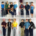 Free Shipping! 6 sets clothing set for Ken Doll Barbie Boy,Clothes for Barbie boyfriend