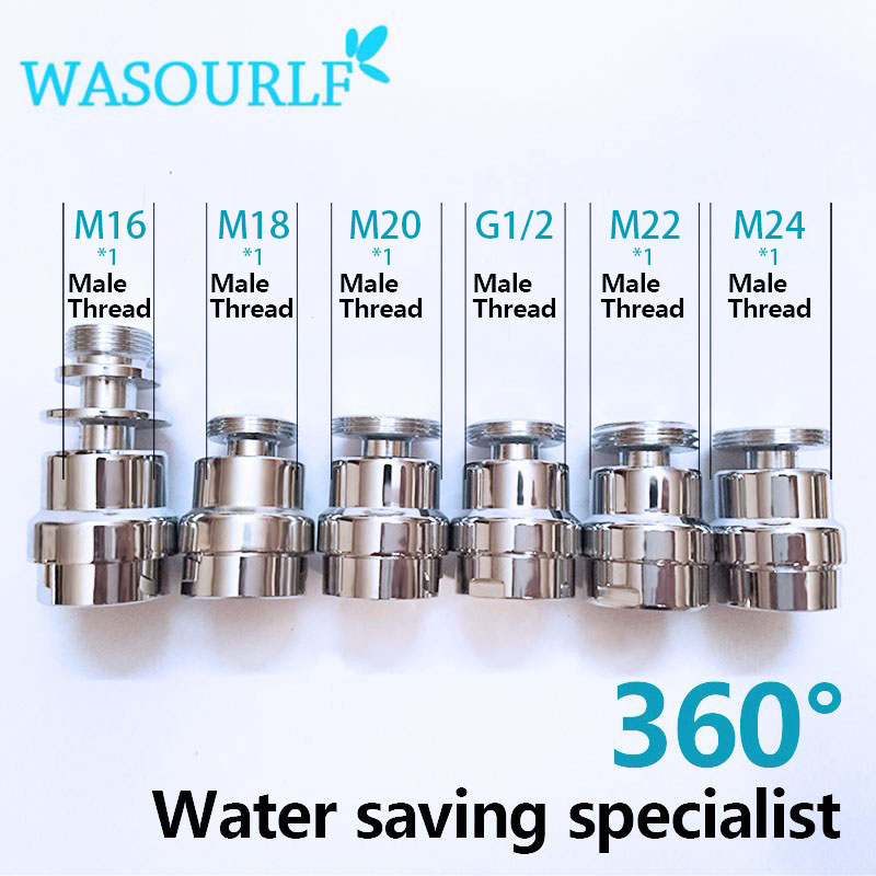 WASOURLF Brass Faucet Adapt 360 Degree Tap Aerator 22mm Female Thread M24 Adapter Free Shipping