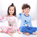 2017 New Girls Pajamas Child Casual Children Kids Pajamas for Girls 100% Cotton 2 pcs/set Baby & Kids Pajamas sets 2-12Y
