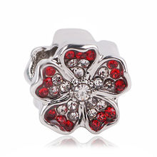 dodocharms Fits European Pandora Charm Bracelets 2020 New 1pc Silver Spring Light Pink Magnolia Flower Clip Or Bead Charms(China)