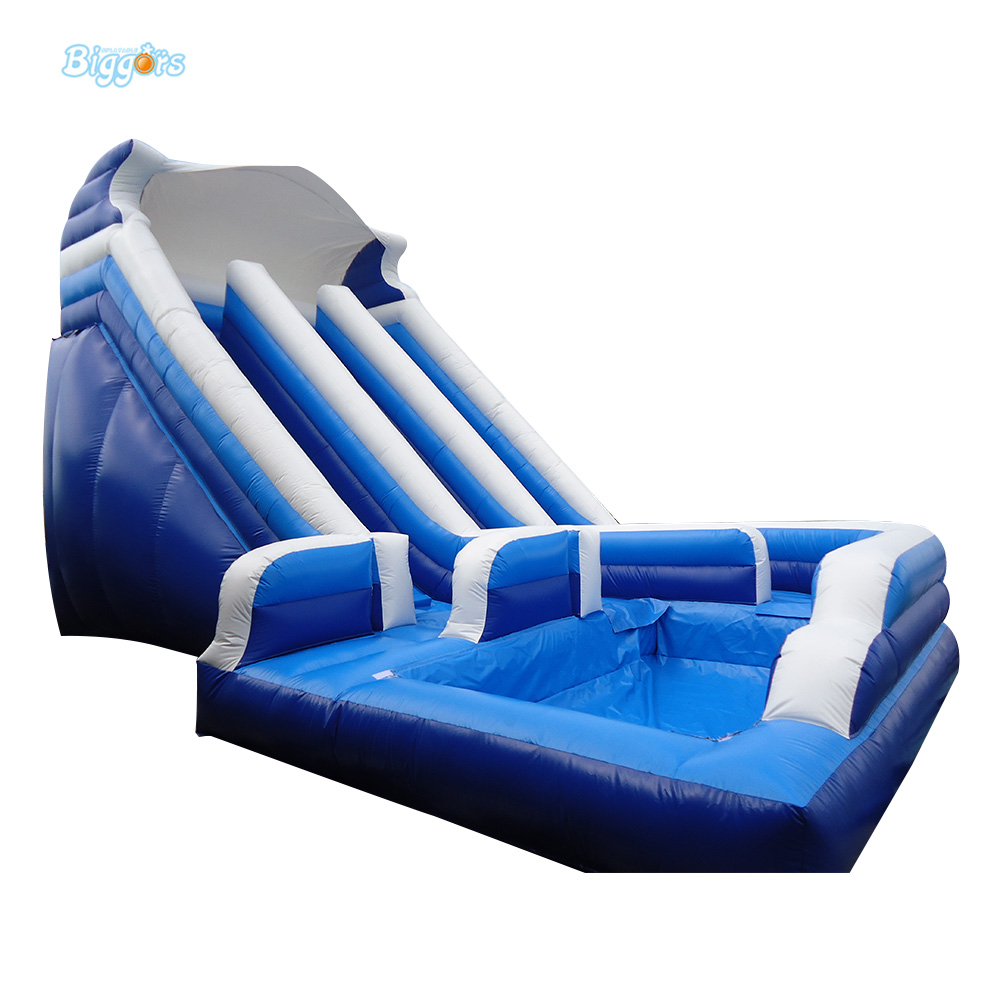 Commercial PVC Inflatable Slide for Kids Inflatable Pool Slide Giant Inflatable Slide commercial sea inflatable blue water slide with pool and arch for kids
