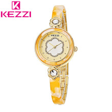 KEZZI KW1241 Luxury Brand Rhinestone Stainless Steel Watch Women Bracelet Quartz Watch Ladies Wristwatch Relogio Feminino