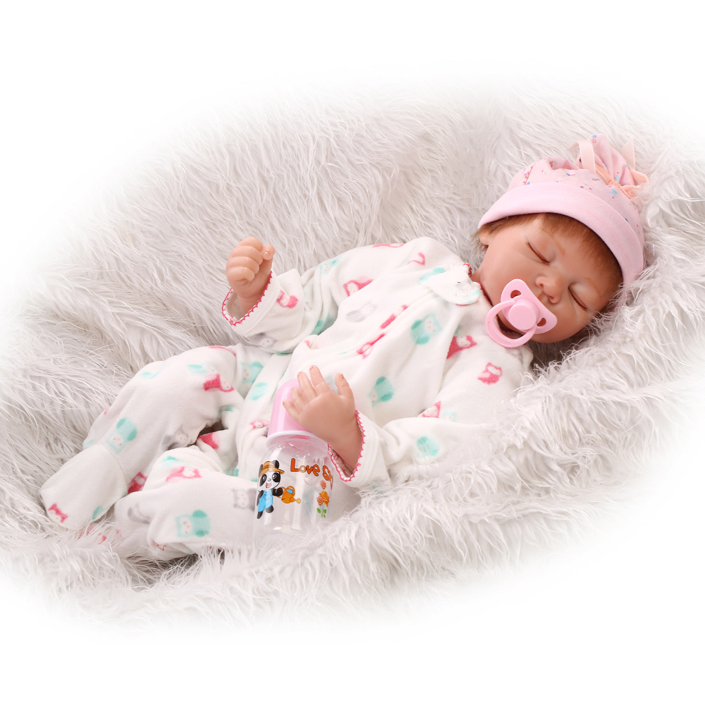 Lifelike Silicone Reborn Baby Doll Toys For Child Brithday Present Gift Play House Cute Soft Sleeping Newborn Girl Babies baby girl arianna on board novelty car sign gift present for new child newborn baby page 4 page 8